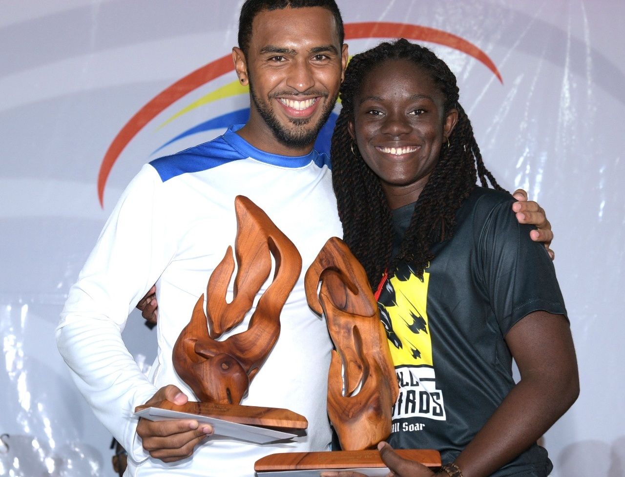 2019 UWI Vice-Chancellor's Sportswoman and Sportsman of the Year, Vanessa Bobb and Jordan Reynos