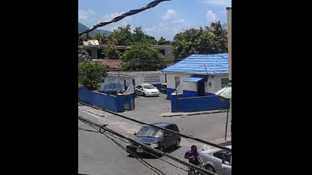 The entrance to the Rollington Town Police Station in East Kingston.
