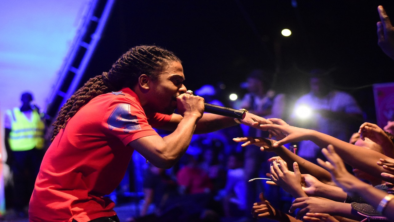 In this December 2017 file photo, dancehall artiste Jahmeil performs at the annual Tarrus Riley Let Live Music Live free concert at the Emancipation Park in New Kingston.