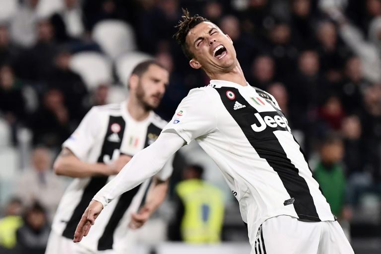 L'attaquant de la Juventus Cristiano Ronaldo buteur lors du match nul 1-1 face au Torino le 3 mai 2019
