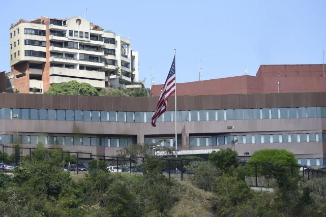L'ambassade des États-Unis au Venezuela est perchée sur les hauteurs de Caracas.  PHOTO JUAN BARRETO, ARCHIVES AGENCE FRANCE-PRESSE