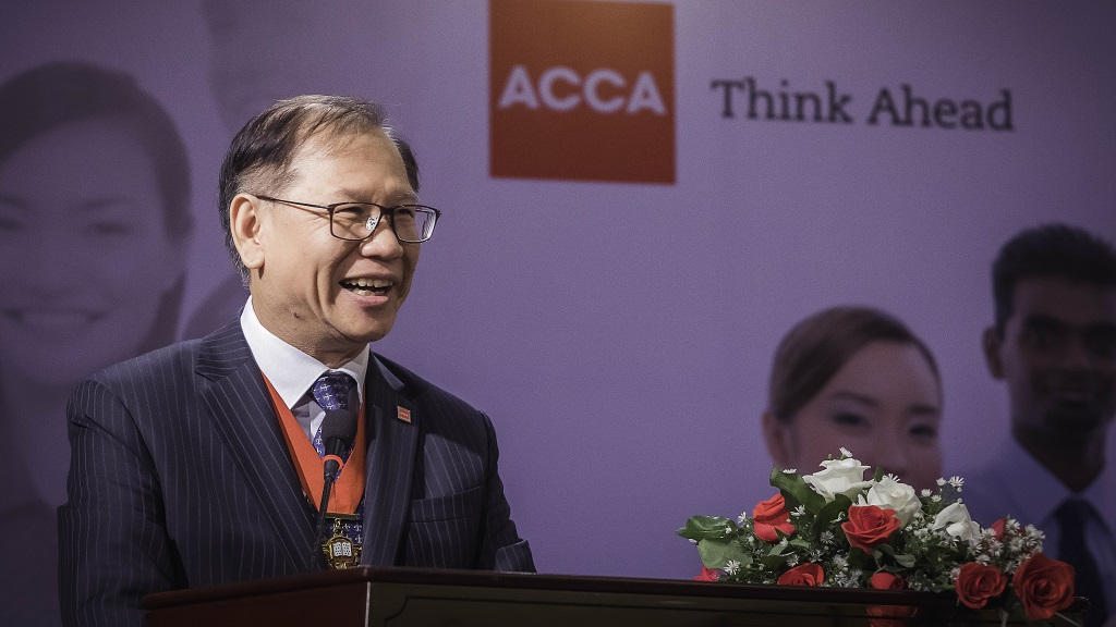 Leo Lee has consistently stressed the significance of the opportunities that accountants have in helping developing economies grow and prosper.