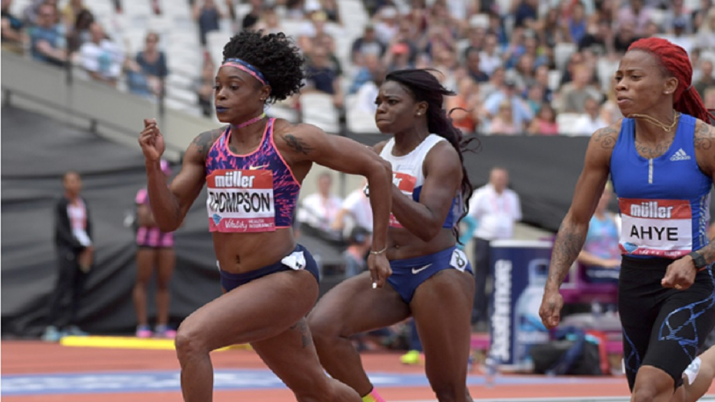 Elaine Thompson at an IAAF Diamond League meeting in London.