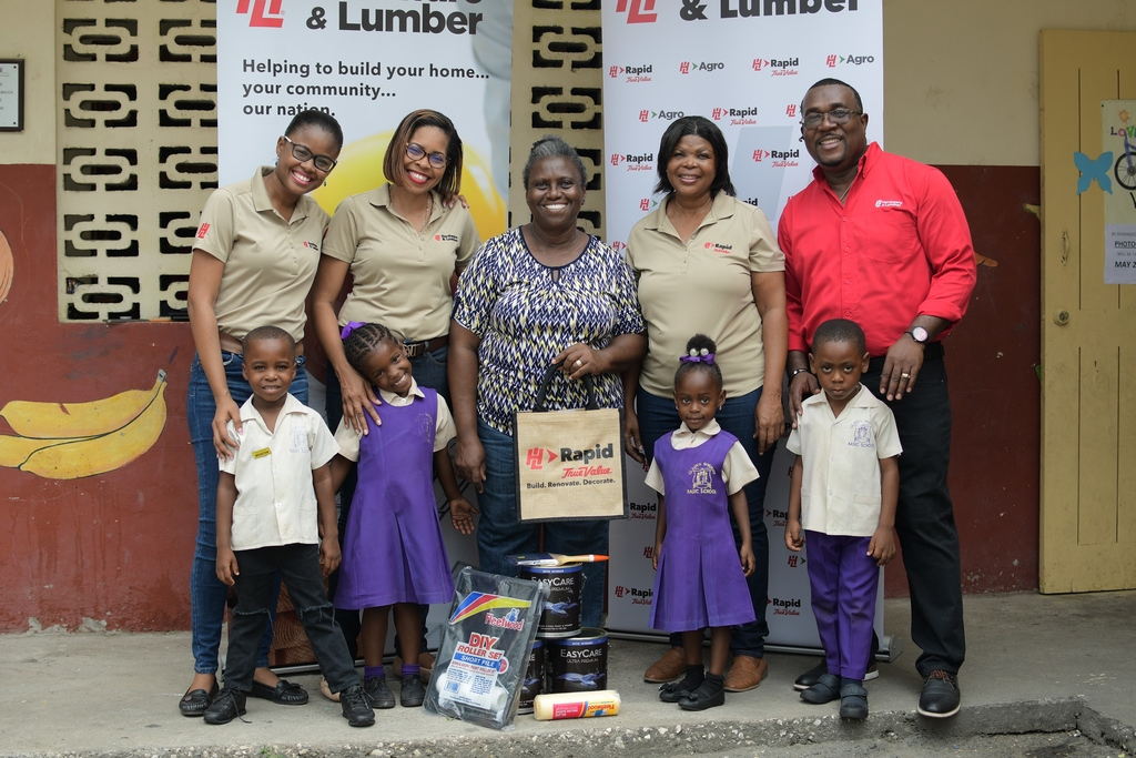 This Labour Day, Hardware & Lumber Limited and True Value Foundation will donate 570 gallons of paint to 19 schools across the island to support their improvement projects. Among the beneficiaries is Gladys Sheriff Basic School.