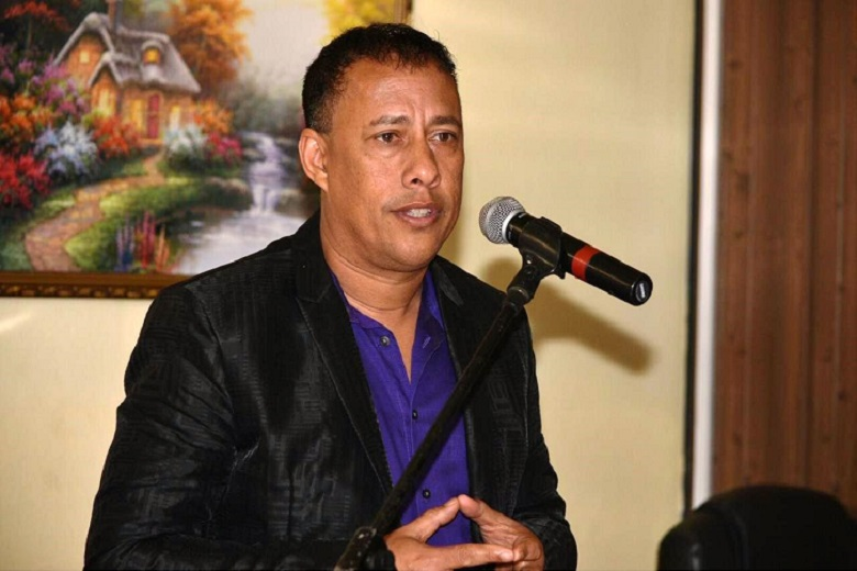 Photo 1- CoP Gary Griffith speaks during meeting at Mayaro Constituency Office on 10.04.19