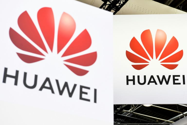 Logos du groupe de télécommunications chinois Huawei