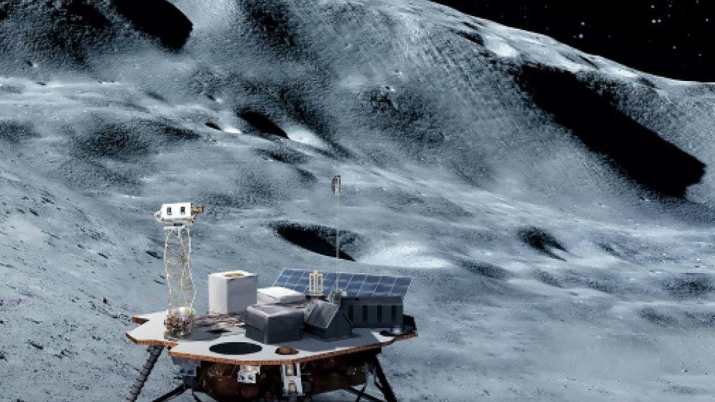 Illustration générique d'un alunisseur, fourni par la Nasa Illustration générique d'un alunisseur, fourni par la Nasa NASA/AFP