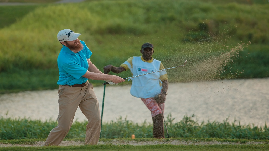 American Evan Harmaling in action on day two of the PGA Latinoamerica BMW Jamaica Golf Classic at Cinnamon Hill in Montego Bay on Friday, May 17, 2019.