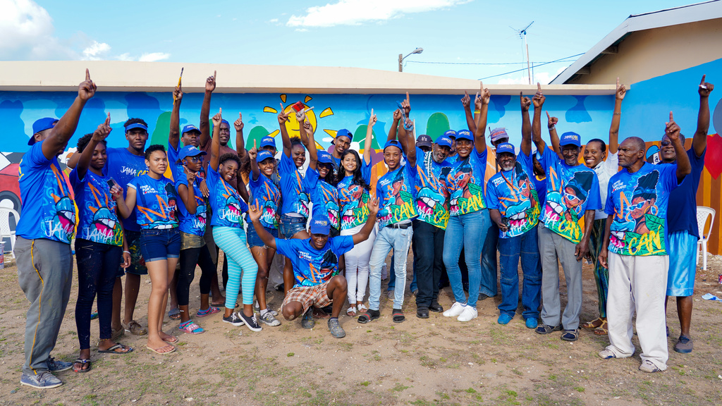 Pepsi Jamaica, though its Jamaica I Can campaign, partnered with the Bellevue Hospital on Windward Road in Kingston to paint three murals at the institution. Assisted by students from the Edna Manley College of the Visual and Performing Arts.