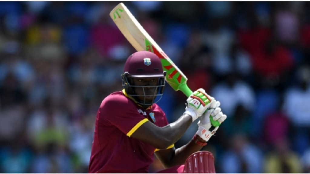 Carlos Brathwaite topscored for West Indies with 60 off 64 balls.