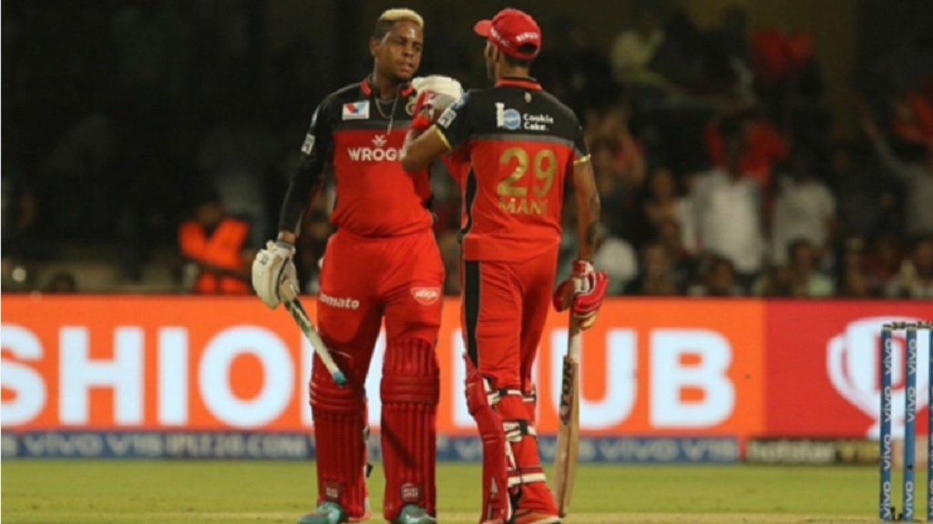Royal Challengers Bangalore batsmen Shimron Hetmyer (left) and Gurkeerat Singh Mann.
