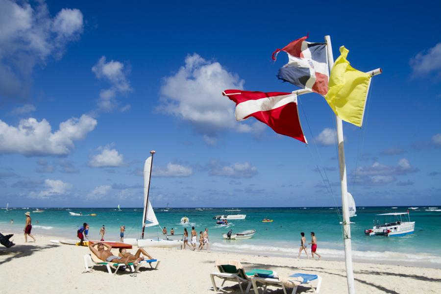 La plage de Bavaro à Punta Cana en République dominicaine. - Erika Santelices - AFP