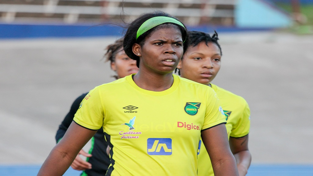 Reggae Girlz striker Khadija Shaw at a training session at the National Stadium on Monday, May 13, 2019. (PHOTO: Lennox Aldred).