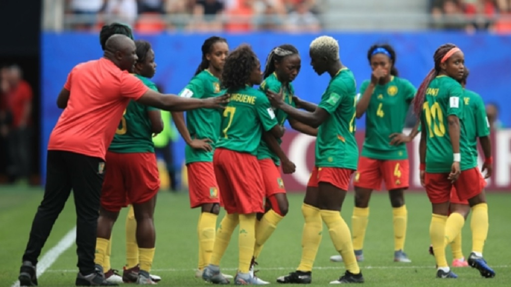 Cameroon protesting against England.