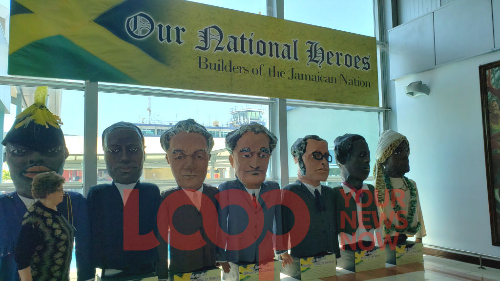 The National Heroes are erected in Jamaica's Norman Manley International Airport.
