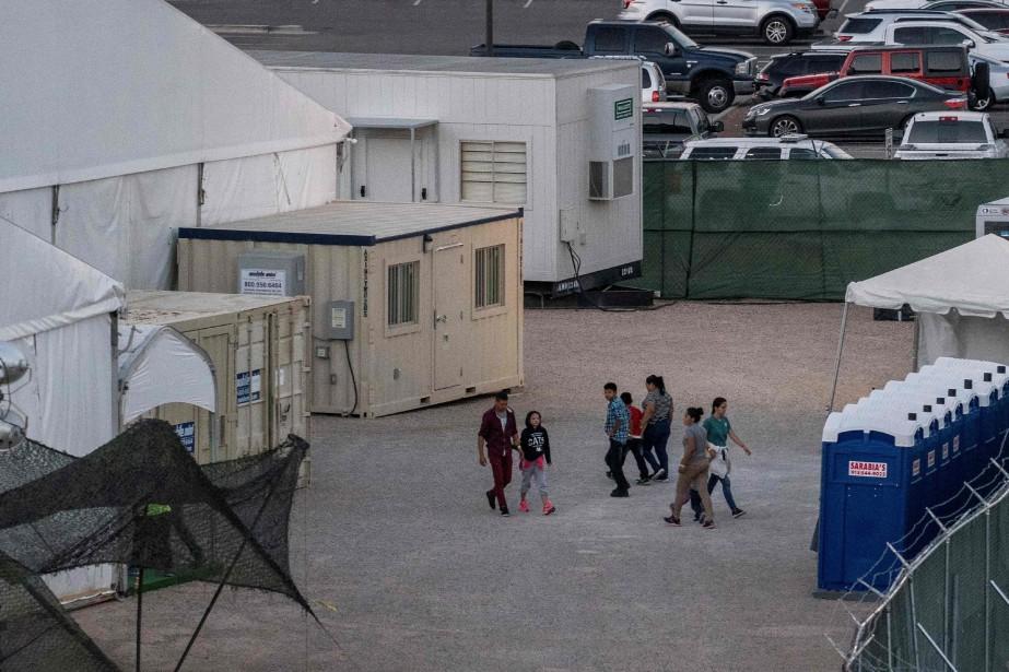 Le centre de détention de Clint, près d'El Paso. PHOTO PAUL RATJE, AGENCE FRANCE-PRESSE
