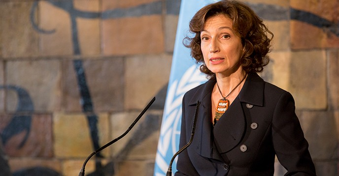 La directrice générale de l'Unesco Audrey Azoulay - Credit Photo : UNESCO (The worldnews.net)