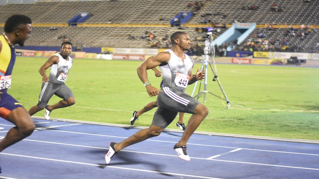 Yohan Blake wins the men's 100m final at the JAAA/Supreme Ventures Limited National Senior Championships at the National Stadium on Friday, June 21, 2019. (PHOTO: Marlon Reid).