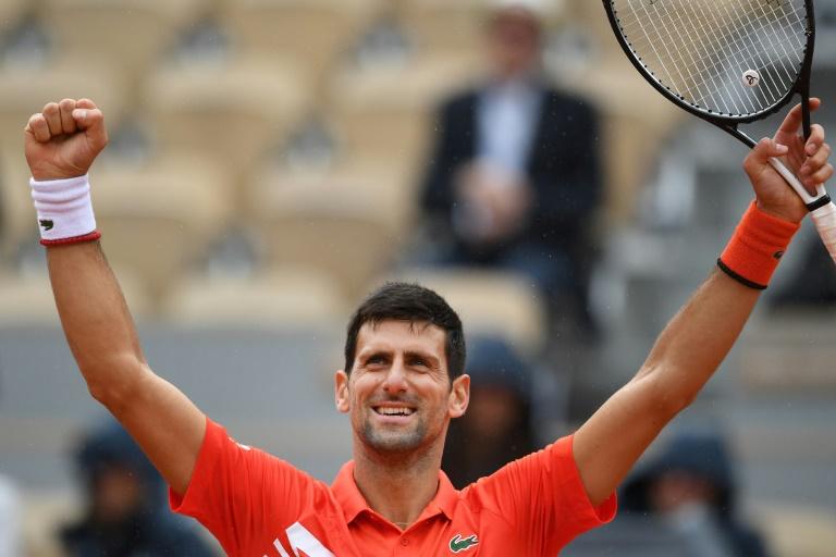Le Serbe Novak Djokovic qualifié pour les demi-finales de Roland-Garros le 3 juin 2019