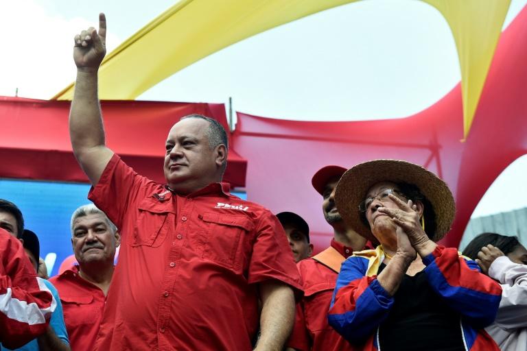 Diosdado Cabello, président de l'Assemblée constituante vénézuélienne, le 6 avril 2019 à Caracas