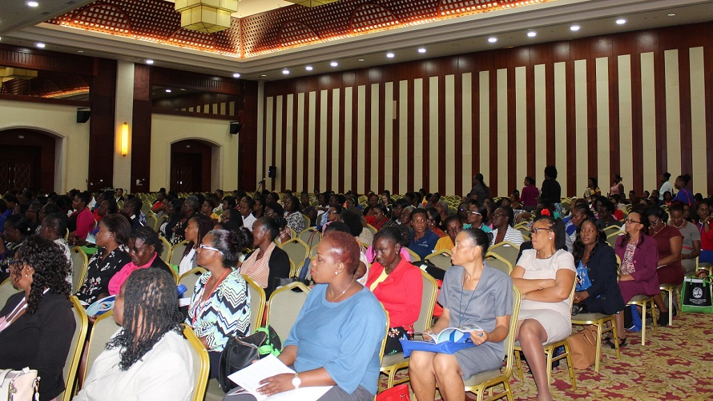 A full house at the Montego Bay Convention Centre at the opening of the Early Childhood Commission Professional Development Institute held recently.