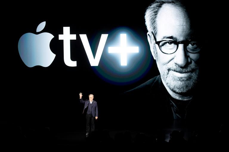 Le réalisateur Steven Spielberg, lors de la présentation d'Apple TV+ le 25 mars 2019 à Cupertino (Californie)