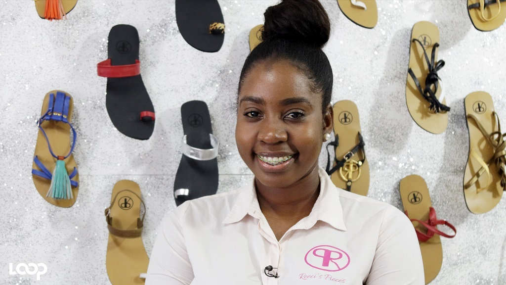 Sharece Henry, CEO of Reeci's Pieces, the local designer and manufacturer of leather sandals.