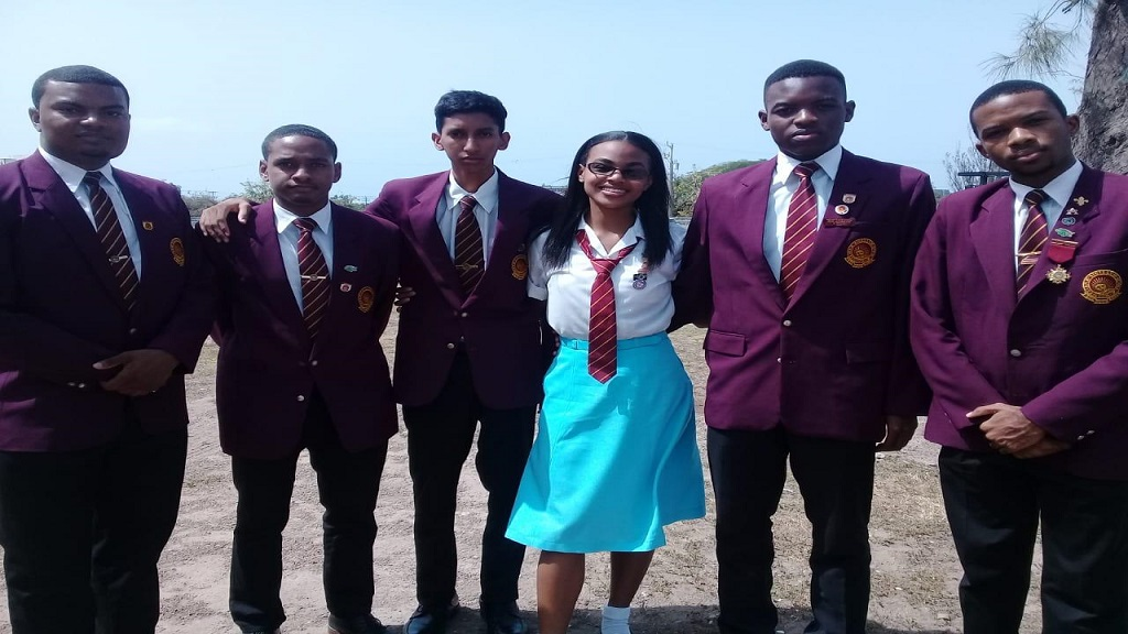 The six-member team of Wolmerians who are participating in the funeral service for Edward Seaga in Kingston. Seaga attended Wolmer's Boys' School for his secondary education.