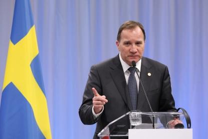 Le Premier ministre suédois Stefan Löfven, le 17 novembre 2017 à Göteborg (AFP / Ludovic Marin)