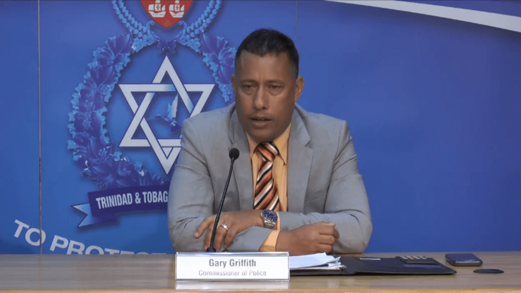 Police Commissioner Gary Griffith speaks at the police press briefing at the Police Administration Building on June 6, 2019.