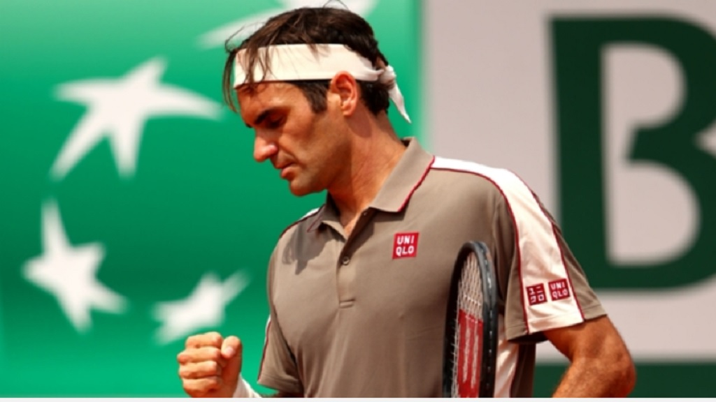 Roger Federer during his match against Stan Wawrinka.