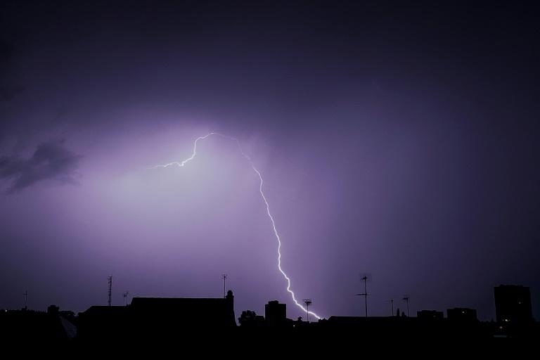 Elair lors d'un orage au-dessus de Tours le 29 mai 2018