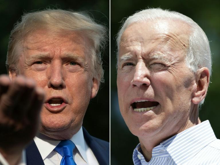 Le président américain Donald Trump et le candidat à la primaire démocrate Joe Biden. AFP / Jim WATSON, Dominick Reuter