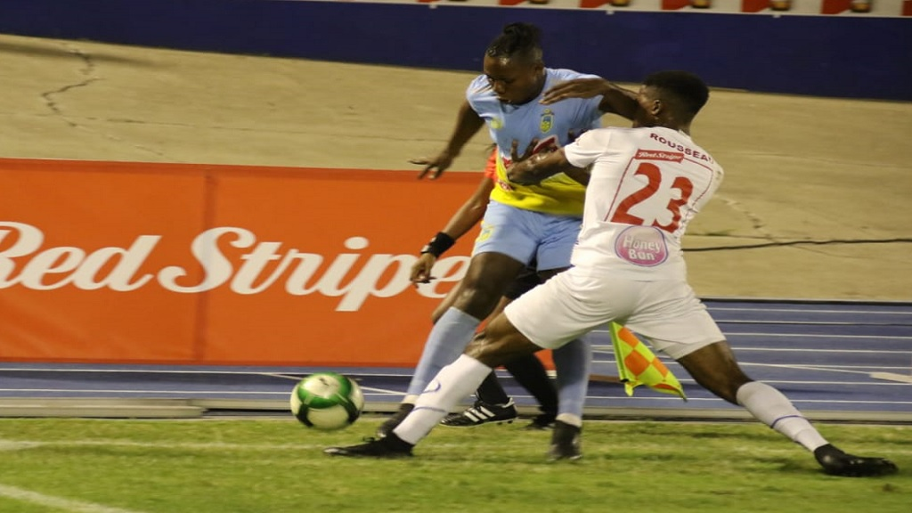 Action from the first half of the Red Stripe Premier League final between defending champions Portmore United and Waterhouse at the National Stadium on Monday, April 29. 2019. (PHOTO: Llewelyn Wynter).
