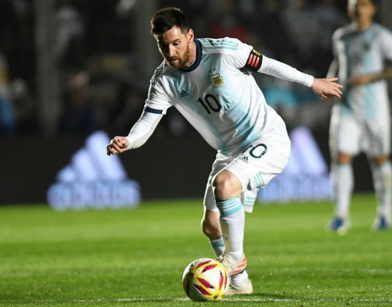 AFP / Andres LARROVERE Argentina's Lionel Messi scored twice during the friendly against Nicaragua in San Juan, Argentina