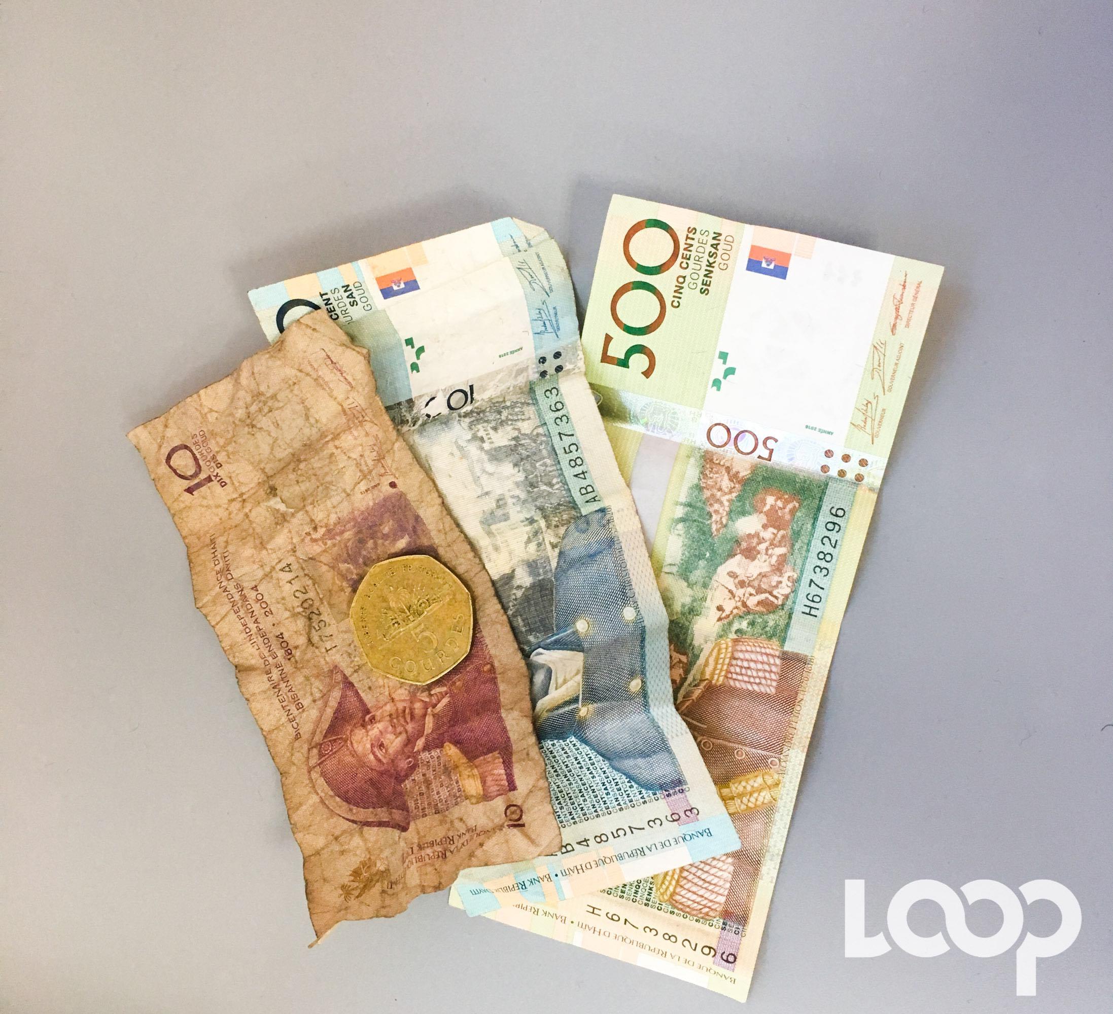 Découvrez l'histoire de la gourde, la monnaie locale./Photo: Loop Haiti-archives.