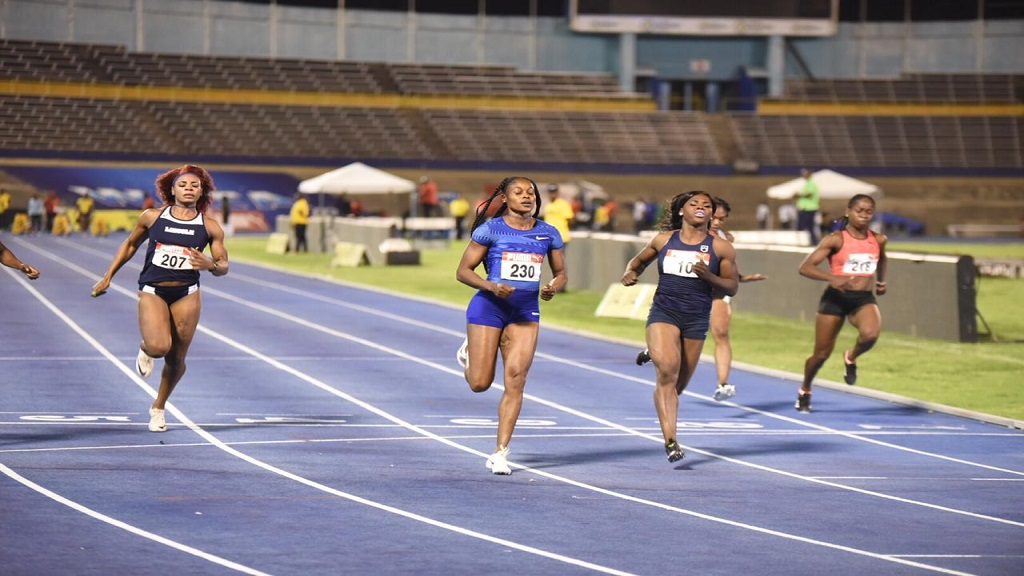 Olympic champion Elaine Thompson win her preliminary round heat of the women's 100m at the JAAA/Supreme Ventures National Senior and Junior Championships at the National Stadium on Thursday, July 20, 2019.