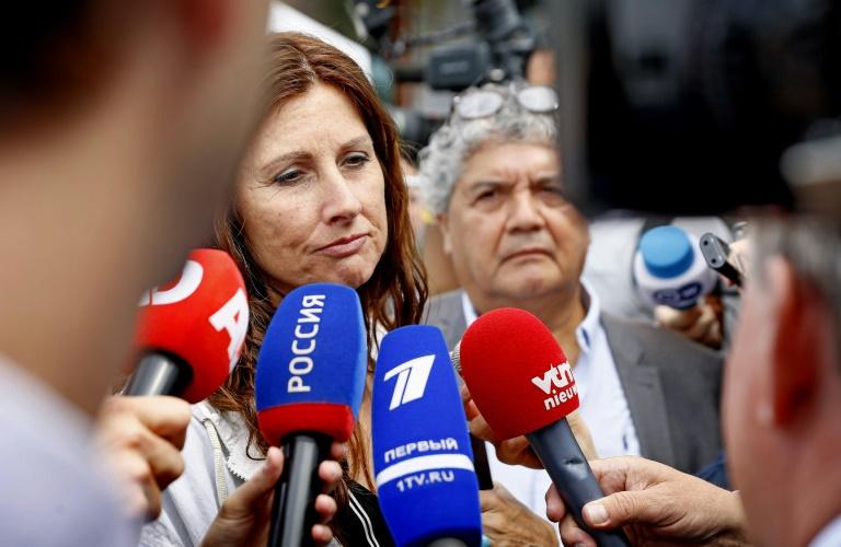 Le chef de la police néerlandaise, Wilbert Paulissen, donne au cours d'une conférence de presse à Nieuwegein aux Pays-Bas le mercredi 19 juin les noms de quatre suspects dans le crash du vol MH17