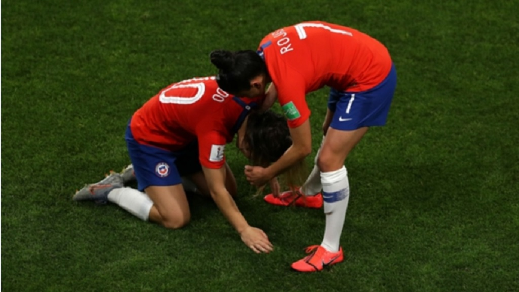 Chile players are devastated by their World Cup exit.