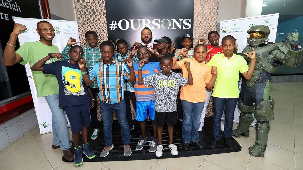 Young men from the community of Rockfort in east Kingston pose during the B3 Parenting Our Sons Motivational Conference last year at the Courtleigh Auditorium.