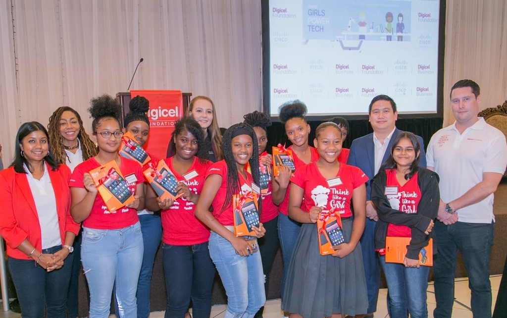 Team AI are the winners of the Digicel Foundation CISCO Girls Power Tech.