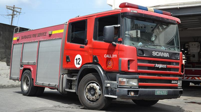FILE - Barbados Fire Service fire tender.