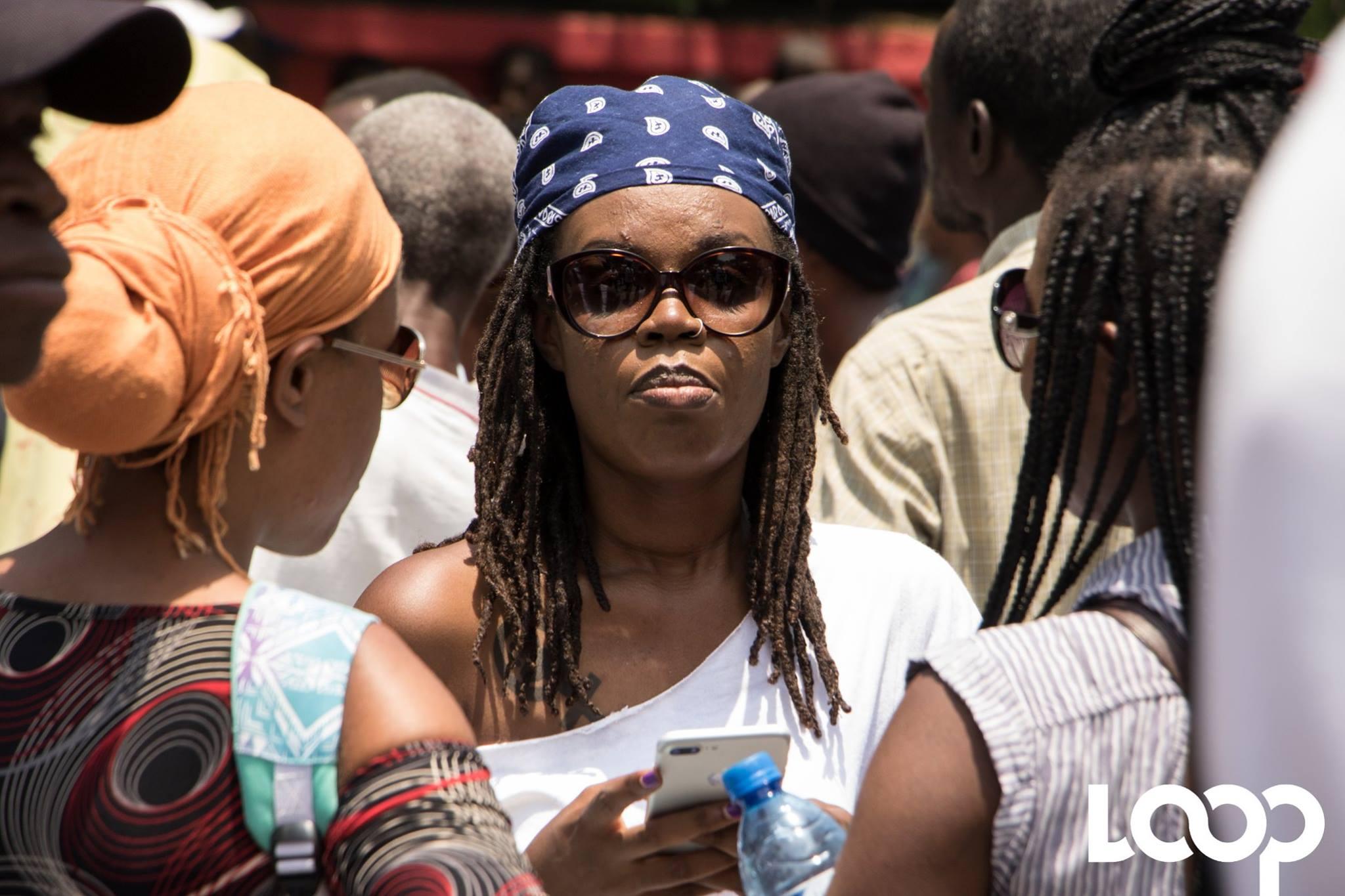 """Pascale Solages, militante féministe et membre de la structure """"Nou pap domi""""./Photo: Loop Haiti-archives."""
