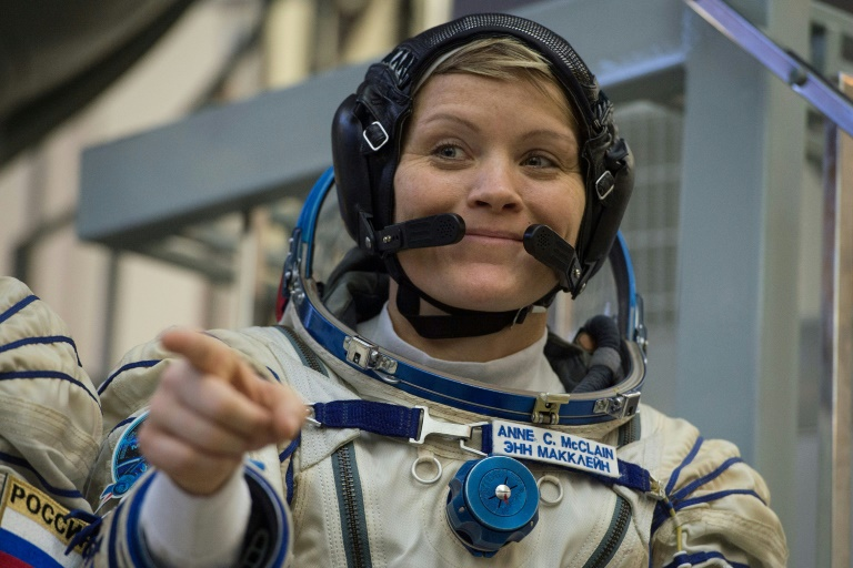 L'astronaute américaine Anne McClain, en novembre 2019 au Centre d'entraînement des cosmonautes près de Moscou
