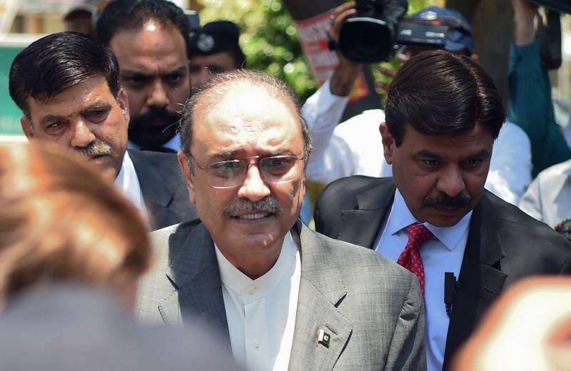 L'ancien président pakistanais Asif Ali Zardari. AFP / FAROOQ NAEEM