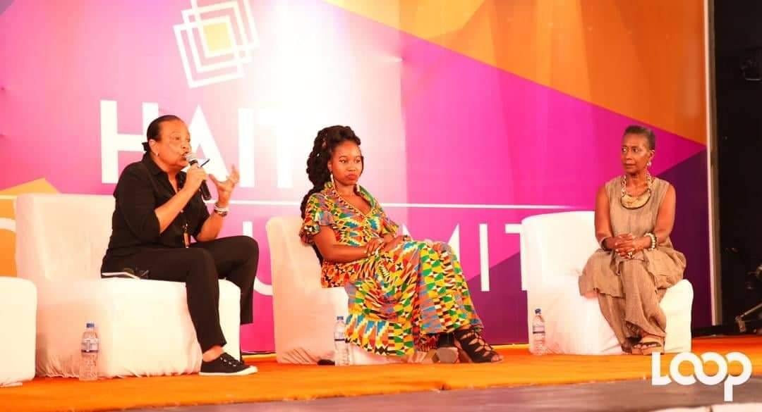 Maryse Penette-Kedar (d), présidente de Labadee et Christine Ntime (m), initiatrice de Haiti Tech Summit
