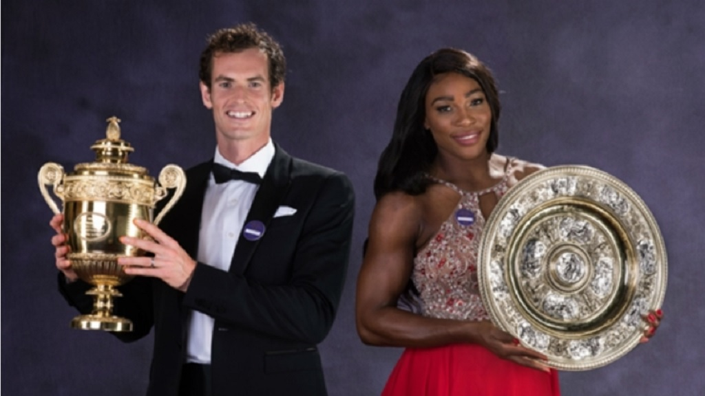 Andy Murray (left) and Serena Williams.