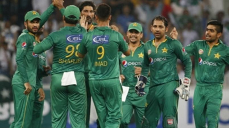 File photo of Pakistan players celebrating during a match.