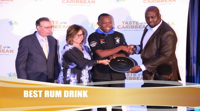 Craig Andes wins Best Rum Drink for St Lucia