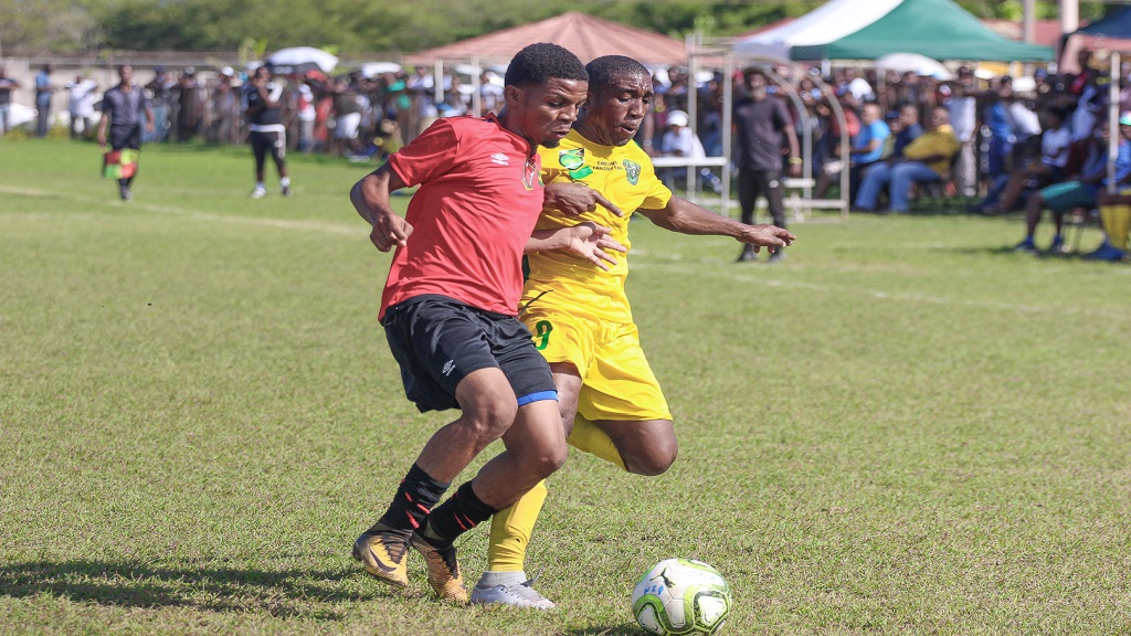 Action from the Jamaica Football Federation (JFF) Premier League play-offs game between Vere United FC and Downs FC at Wembley Centre of Excellence ground in Hayes, Clarendon on Sunday, June 2, 2019.